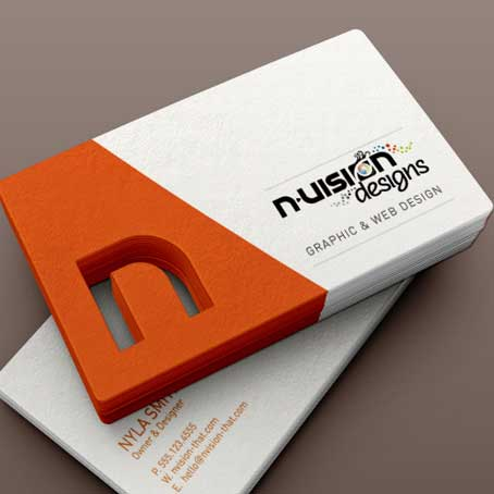 Die Cut on Business Cards