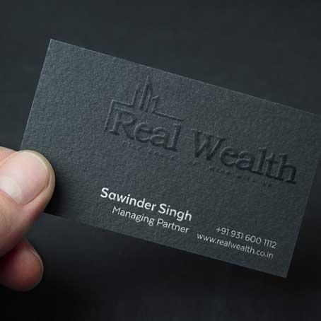 Embossed Printing Name Cards