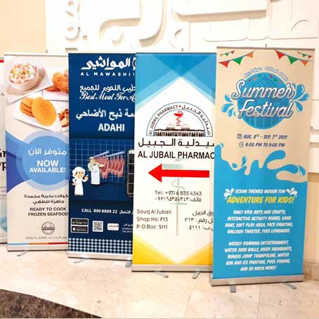 Dubai Roll up Printing