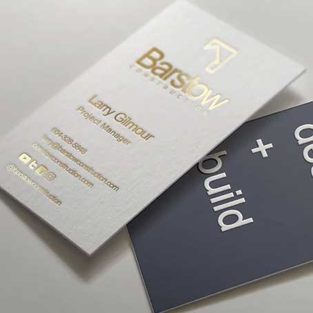 Gold Printing Business Cards