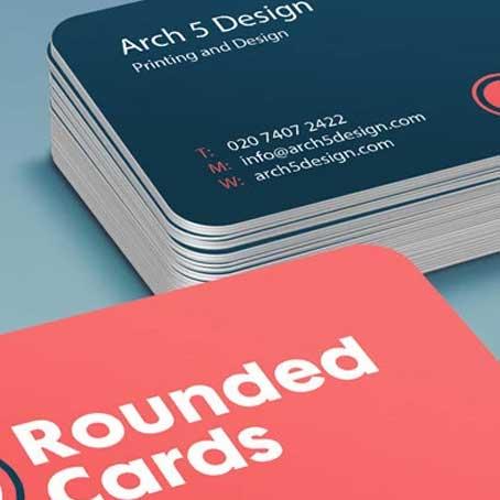 Die Cut Round Business Cards