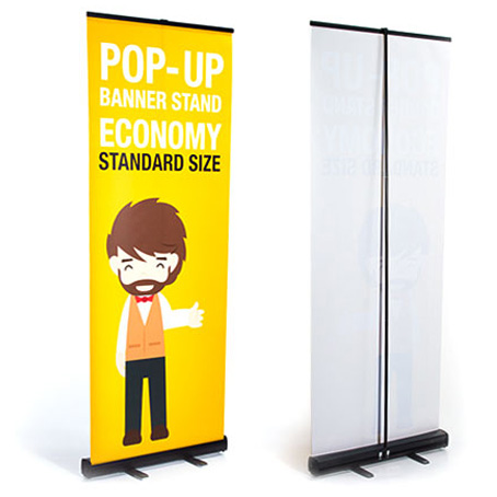 Black Color Roll up Banner Printing