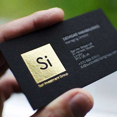 Golden Printing Calling Cards