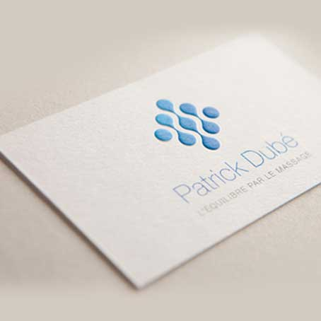 Embossed Printing Logo Business Cards