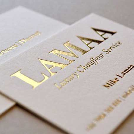 Gold color printing cards