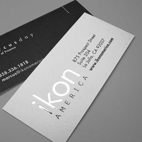 Silver Color Printing Business Cards
