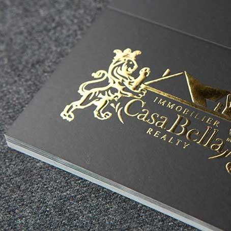 Gold Printing Visiting Cards