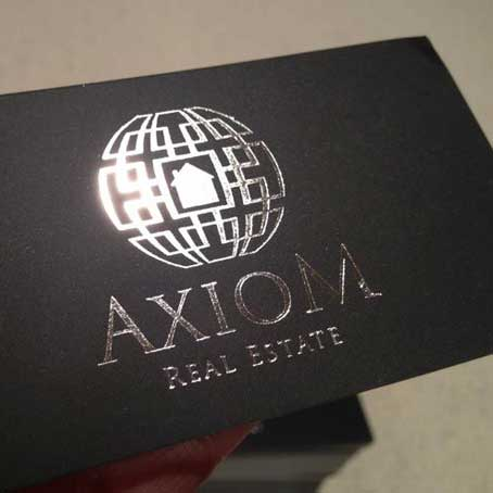 Black and Silver Printing Cards