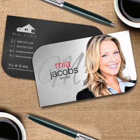 Rounded Die Cut Calling Card
