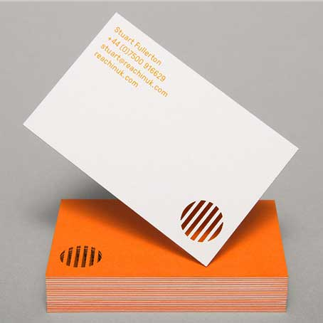 Die Cutting Visiting Cards