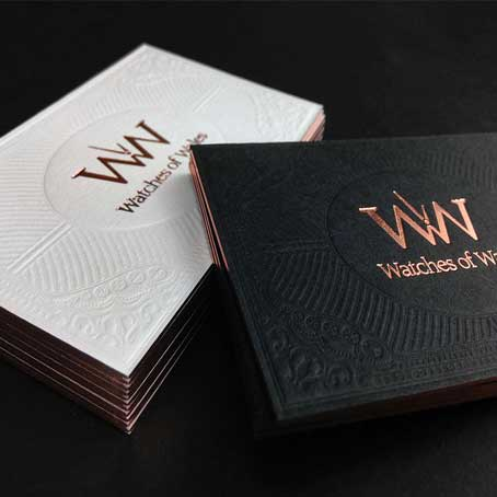 Black and Gold Printing Business Cards