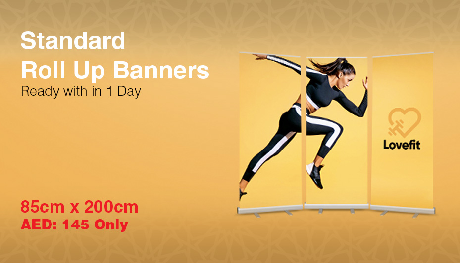 Roll up banner printing Dubai